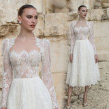 PAYTON Lace Sleeve Dress - Gowns.sg