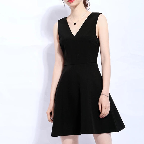 Cut Out Back Flare Dress (XS/S/M/L) - Gowns.sg