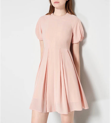 Tulip Sleeve Blush Dress (S/M/L) - Gowns.sg