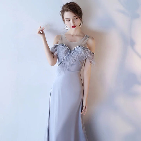 Fur Linings Gown - Gowns.sg