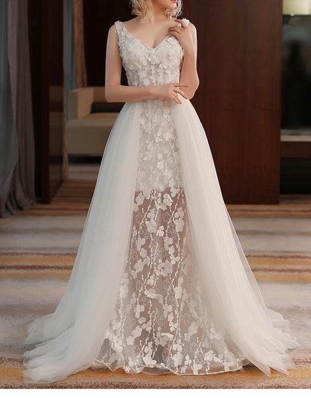Chantilly Lace Gown (S-XL) - Gowns.sg