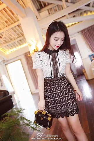 Crochet Lace dress (Like self portrait) - Gowns.sg