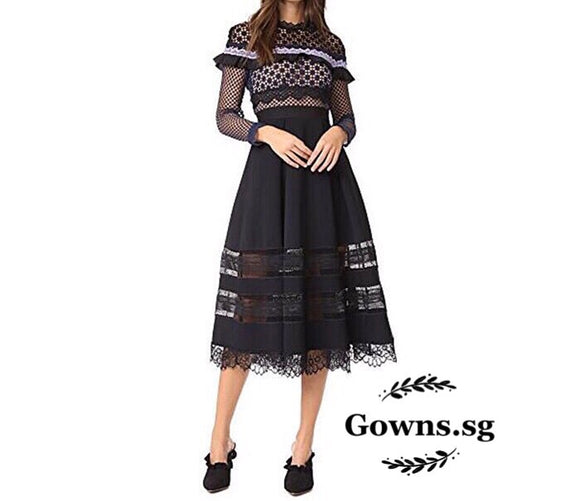 Godiva Lace Dress (Like Self Portrait) - Gowns.sg