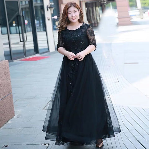 Black Lady Plus Dress - Gowns.sg