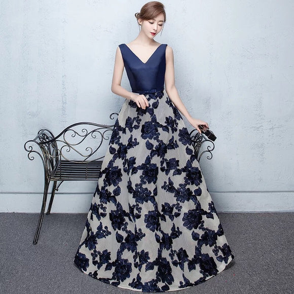 Mona Floral ballroom gown