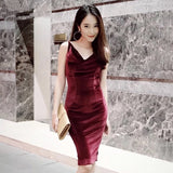 Romance Velvet Dress - Gowns.sg