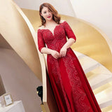 Illusion Plunging Fire Gown (3XL upwards)