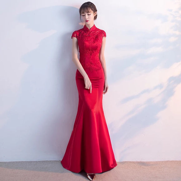 Carla Cheongsam evening gown - Gowns.sg