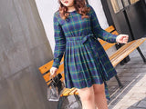 Checkered Plus Dress (XL-5XL) - Gowns.sg