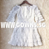 Off Shoulder Goddess Dress (S/M/L) - Gowns.sg