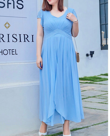 Flowy Maxi Plus Dress (XL-5XL) - Gowns.sg