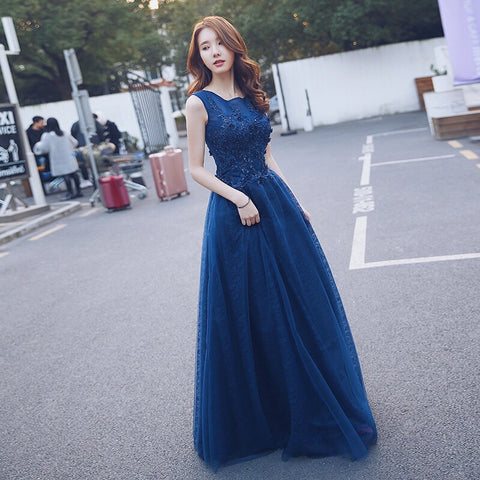 Indigo Mesh Gown( Up to 6XL) - Gowns.sg
