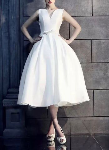 Moroe White Dress (XS-3XL) - Gowns.sg