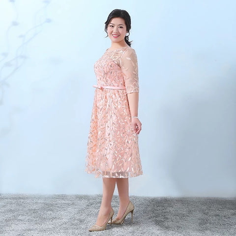 Sweet Leaf Motif Plus Gown (XL Upwards) - Gowns.sg