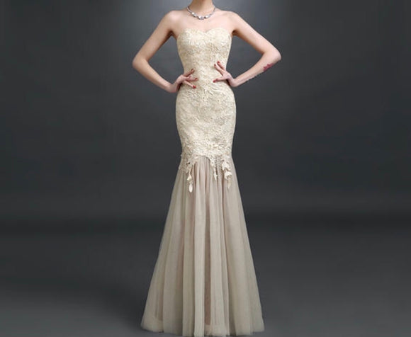 GLORIA Strapless Gown - Gowns.sg