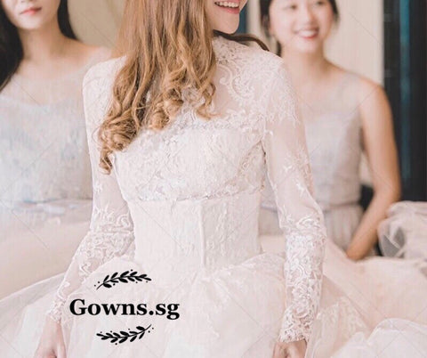 High Neck Gown - Gowns.sg