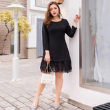 EMILIA Lace Hem Work Dress - Gowns.sg