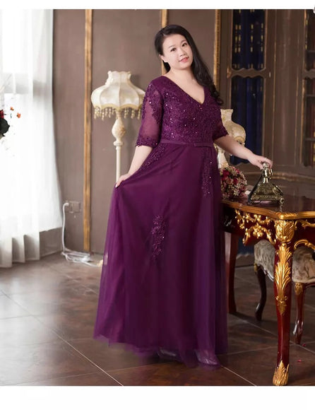 Viola Plus Evening Gown (XL-10XL) - Gowns.sg