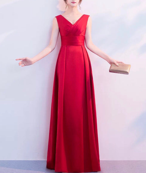 Vanessa Satin Gown (S-5XL) - Gowns.sg