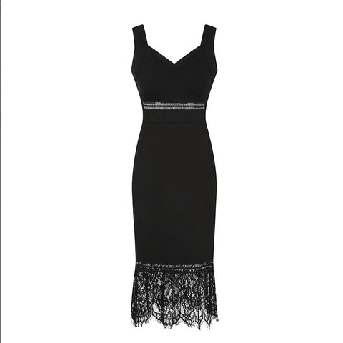 Baror Lace Hem Dress (S,M,L) - Gowns.sg