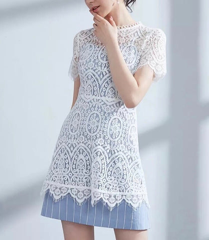 Double Wear Lace Dress (XS-L) - Gowns.sg