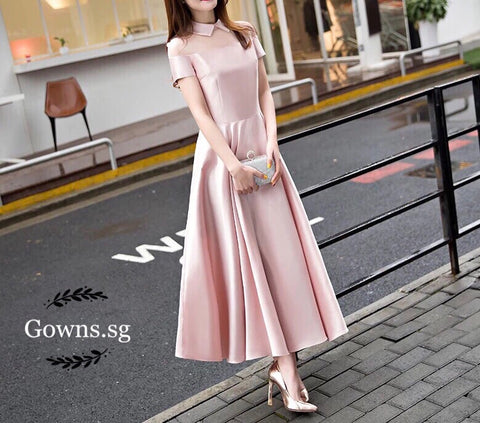 Sweet Collar Dress - Gowns.sg