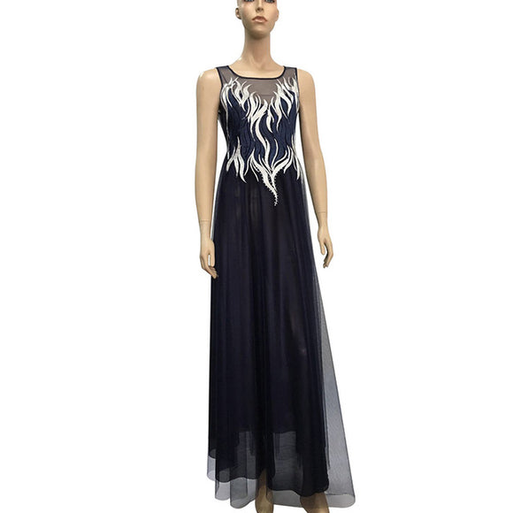 Plus Navy Gown - Gowns.sg