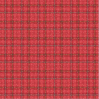Winter Plaid - You Better Not Pout # 10175-10 Red