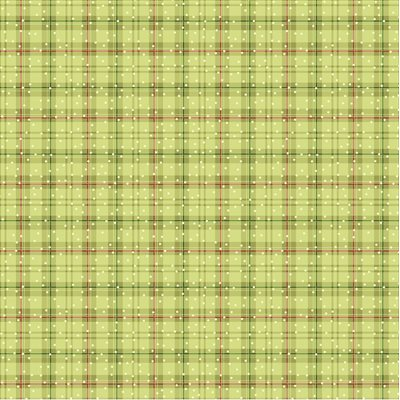 Winter Plaid Olive - You Better Not Pout # 10175-46 - Olive