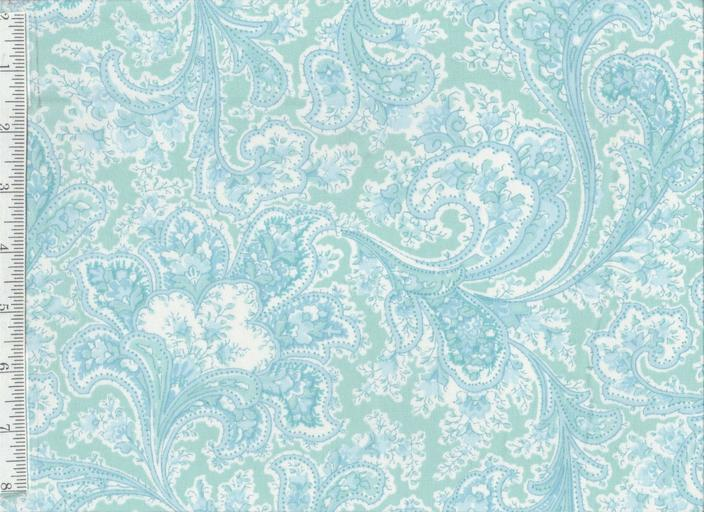 "Rosemont Malabar by Benatex - Quilt Widebacking 108"" - Sea Breeze Blue 1283W-84"