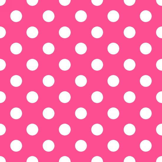 "AE Nathan 45"" Comfy Flannel Prints - White Polka Dots/Pink"