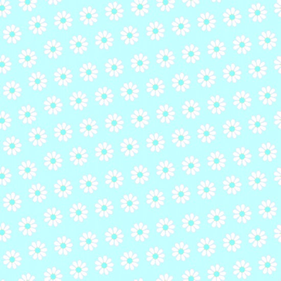 "AE Nathan 45"" Comfy Flannel Prints - Tiny Flower in Aqua"