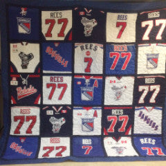 Hockey Jersey Quilt 25 blocks