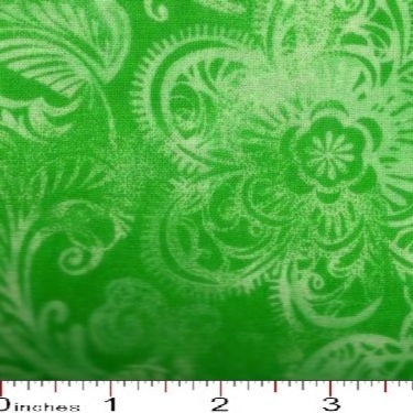 MDG 108″ Quilt Backing Batiks like Print - Bright Green
