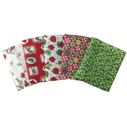 Christmas Season Fat Quarter Bundle (5)  TCC2400-FQ