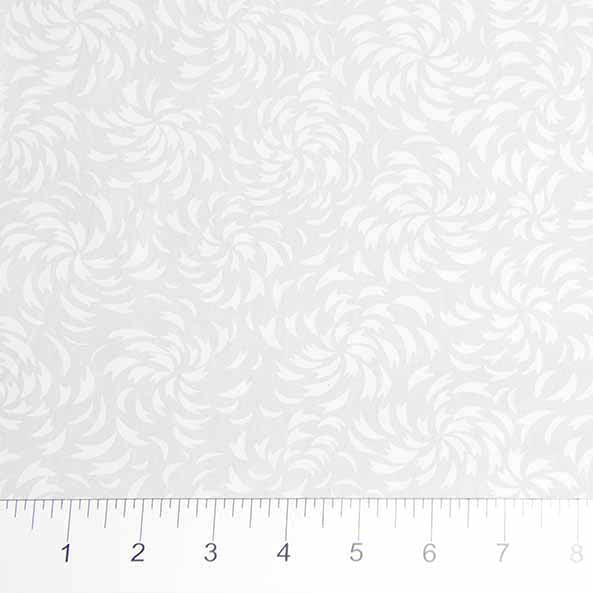 Banyan Batiks - White on White by Northcott - Swirl Leaves 81201-10