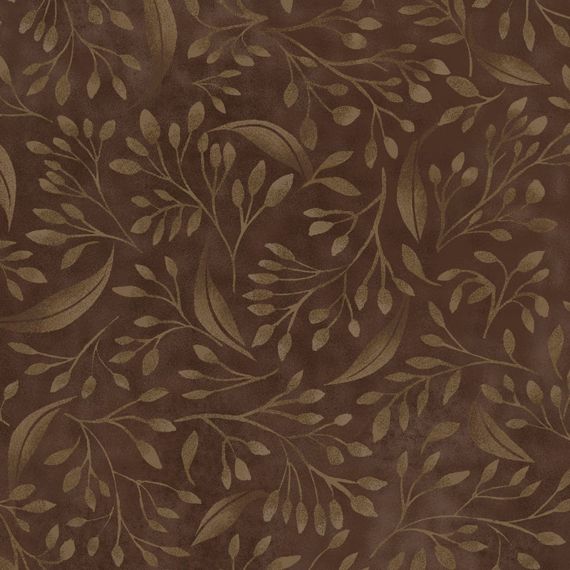 Brown Flourish 108in Wide Back  by P & B Textiles Neutral # ALEX4394-Z