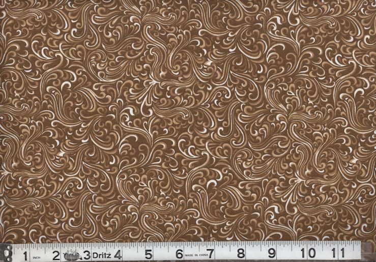 BreezeWay by MDG Quilt back - 108 - Chocolate