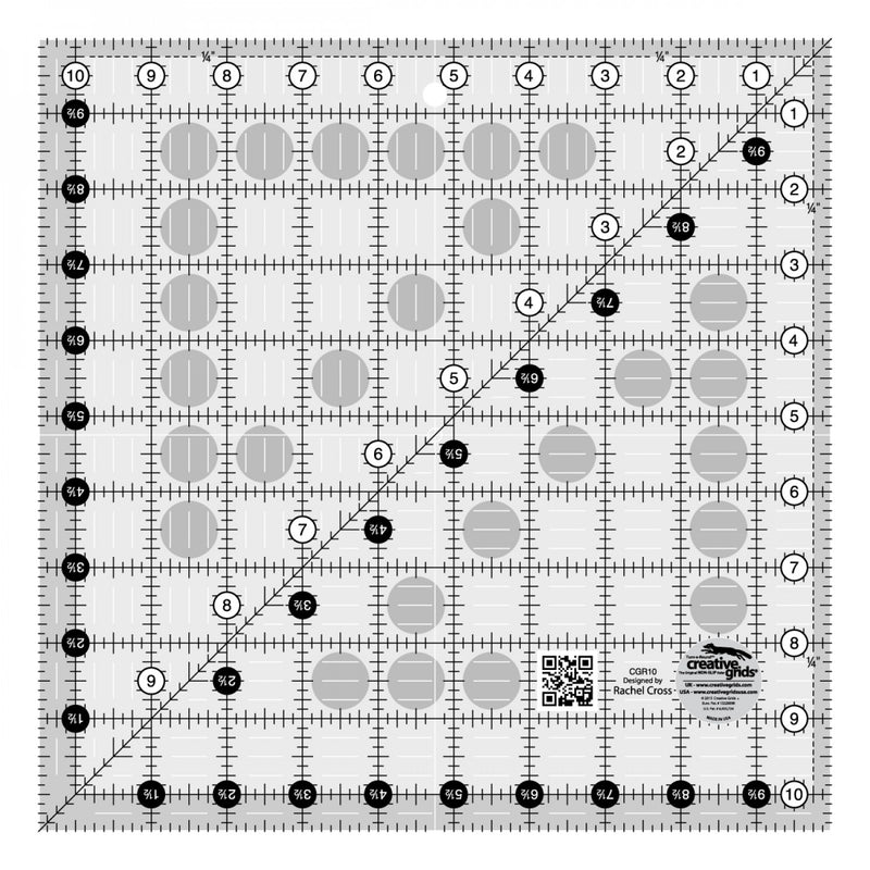 Creative Grids Quilt Ruler 10-1/2 # CGR10