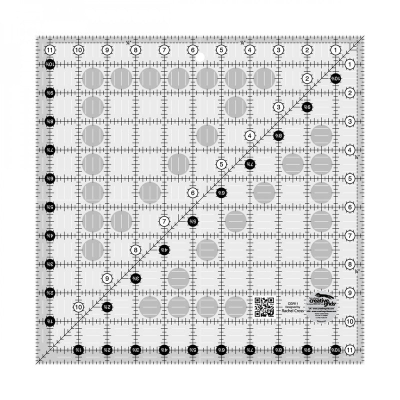 Creative Grids Quilt Ruler 11-1/2in x 11-1/2in # CGR11