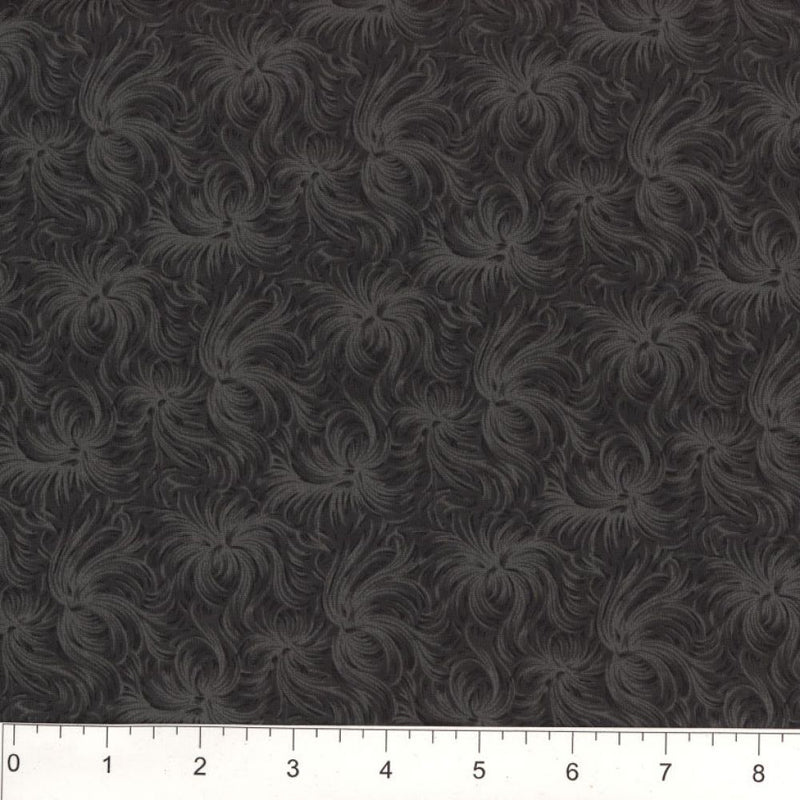 Day Dream by MDG Quilt back - 108 - Black