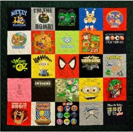 Basic T-shirt Quilt 25 block