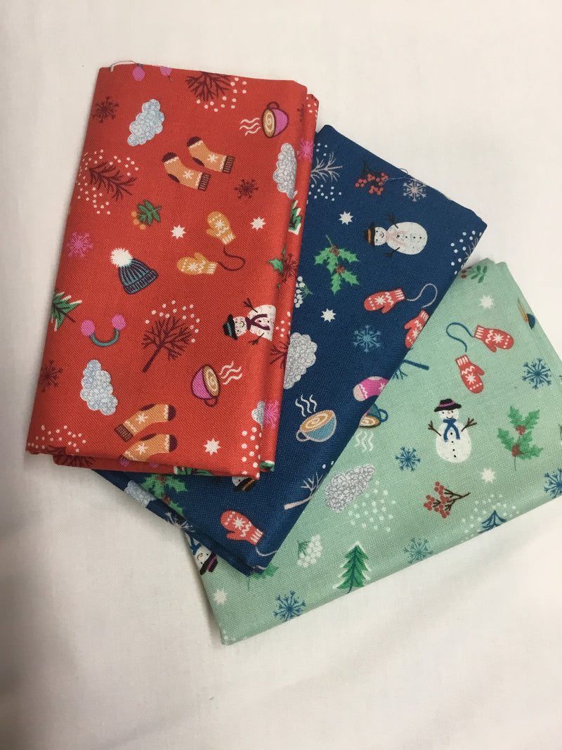 Whatever the Weather - Fat Quarters (3) LIA370-FQ
