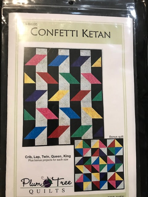 Confetti Ketan by Banyan Batiks from Northcott Kit with pattern