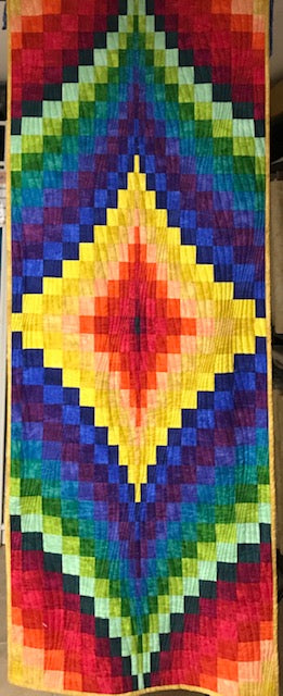 Fire Within Bargello wall hanging or table topper - Make your own kit!