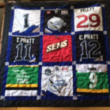 Hockey Jersey Quilt 9 blocks