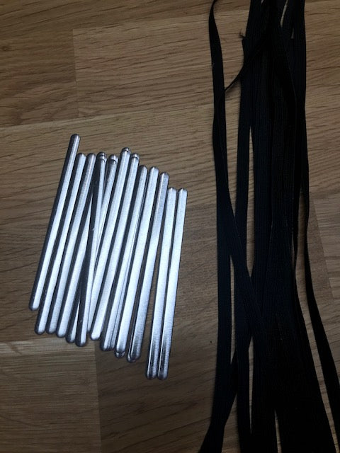 "1/4"" Elastic 10 metre bundle - Black with 20 nose piece"