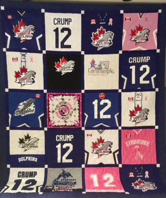 Hockey Jersey Quilt 20 blocks
