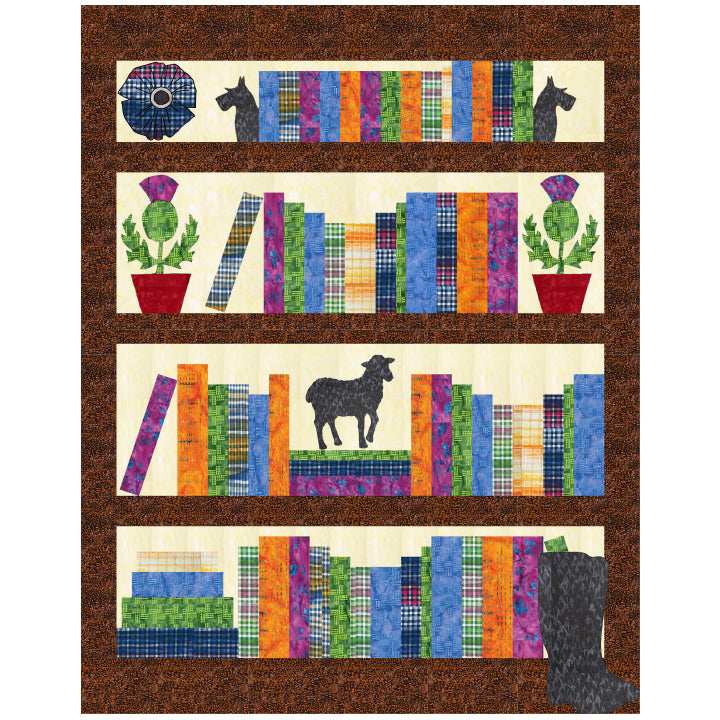 Gandiegow Library Quilt by Patience Griffin Quilts  using Banyan Batiks from Northcott Kit with pattern