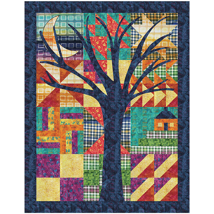 Goodbye Quilt by Patience Griffin Quilts  using Banyan Batiks from Northcott Kit with pattern